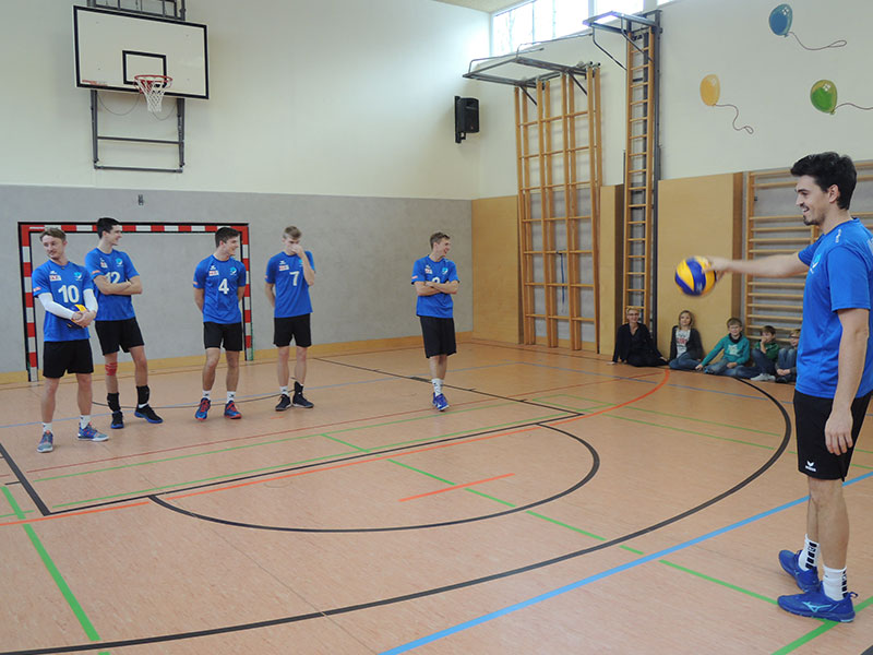 Volleyball Workshop der Bundesligamannschaft UVC Ried, Jänner 2019